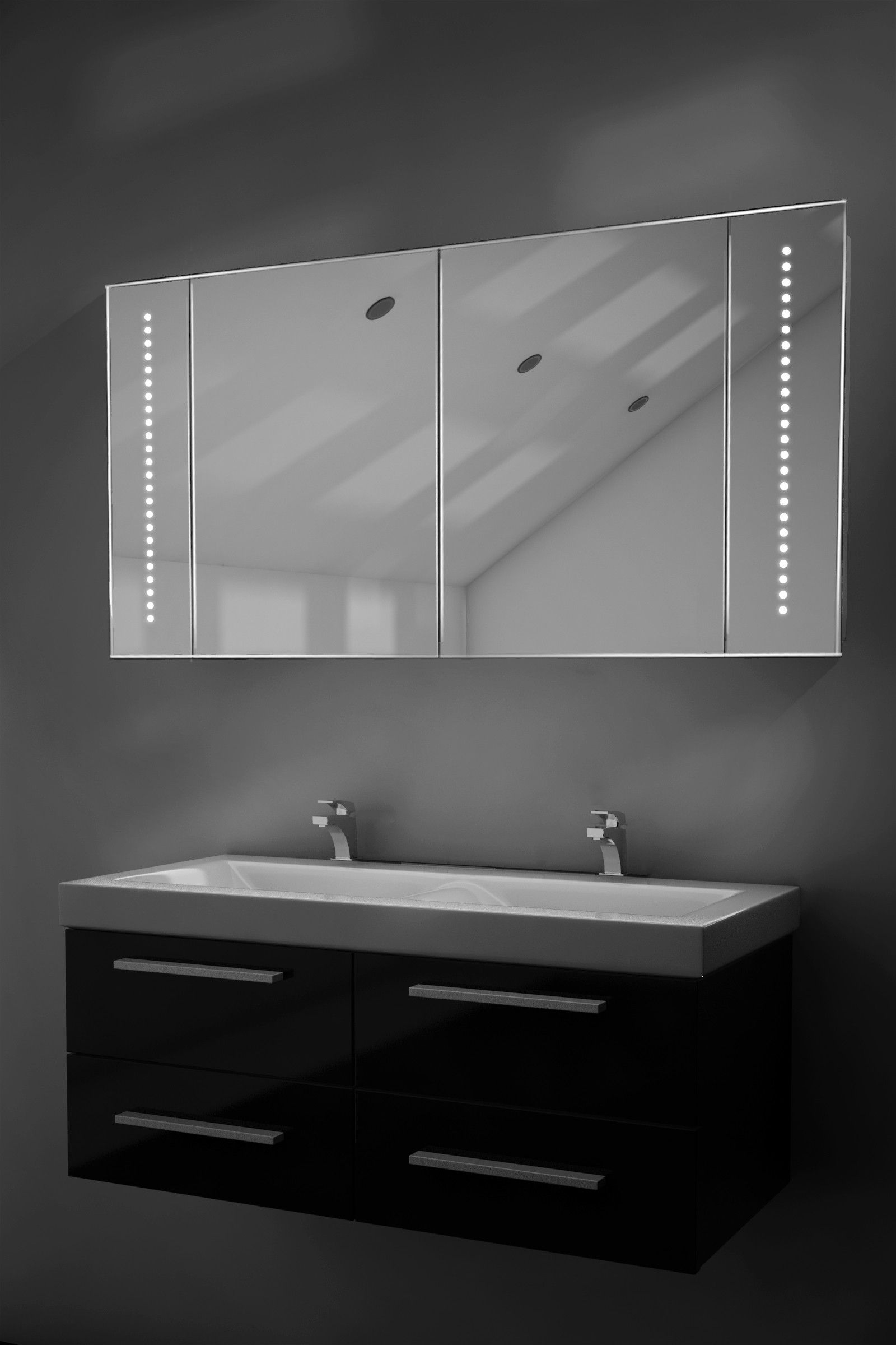 Illuminated Bathroom Cabinets >> Led Illuminated Bathroom Cabinet Mirror Cabinets Modern