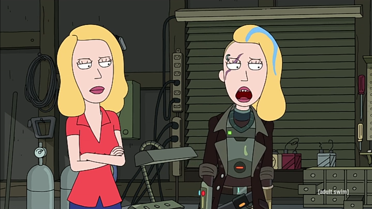 Rick Y Morty El Clon De Beth Rick And Morty Season Rick And Morty Rick And Morty Characters