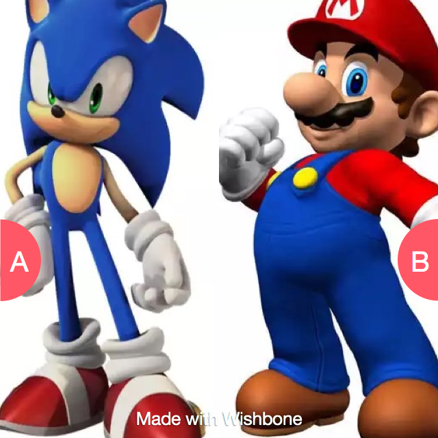 Sonic or Mario? Make yours http//bit.ly/getwishbone