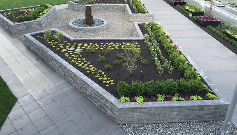 Roof Top Planter Patio Garden Raised Retaining Wall Commercial Walls Planters