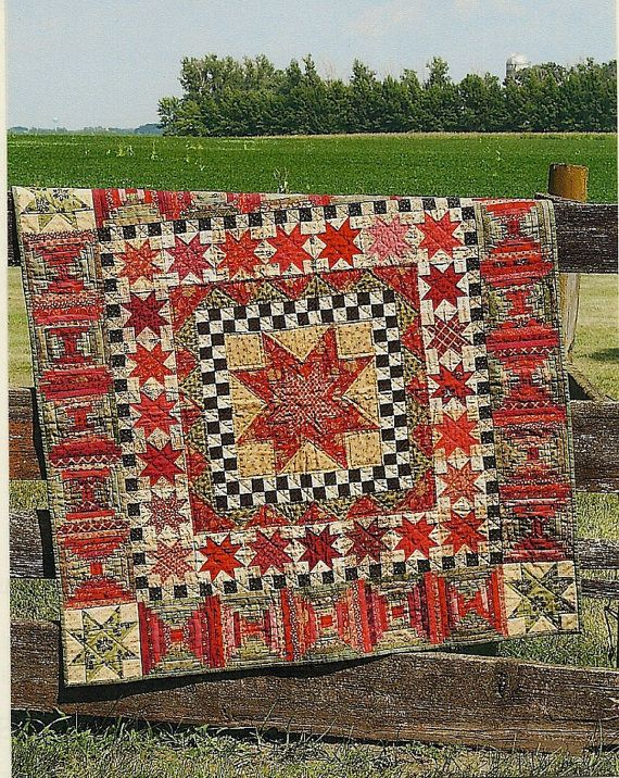 Primitive Folk Art Quilt Pattern 30 Stars For 30 Years Country Living Primitive Folk Art Primitive Quilts Country Quilts