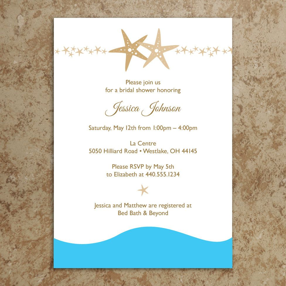 Beach Invitation Diy Printable Pdf Beach Bridal Shower