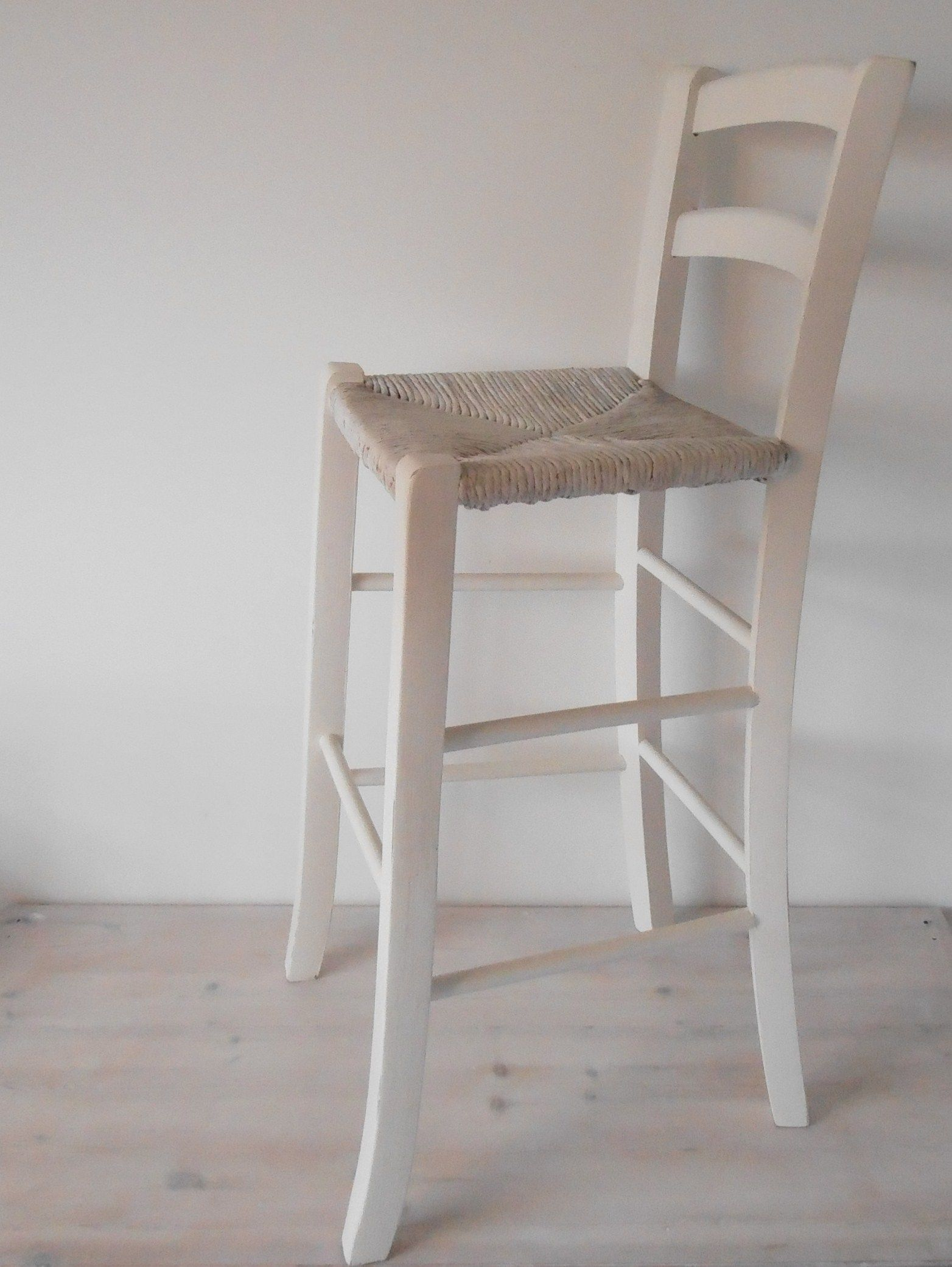 Handpainted Beech Bar Chair With A Rush Seat Bar Stools Bar Chairs Stool