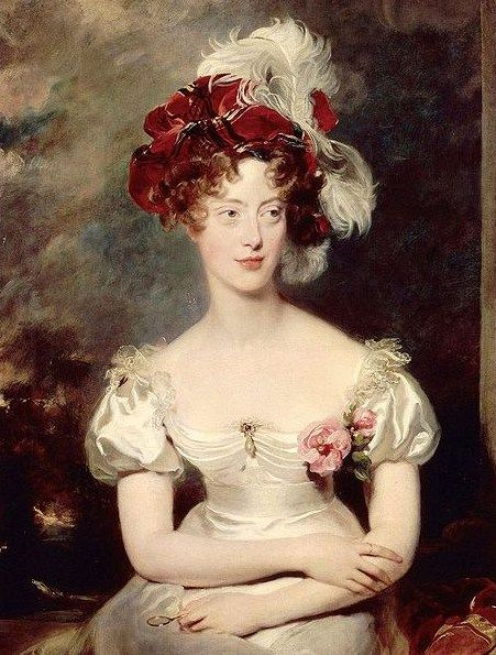 Marie-Caroline Ferdinande Louise de Bourbon, Duchesse de Berry, Painting by Thomas Lawrence, 1825