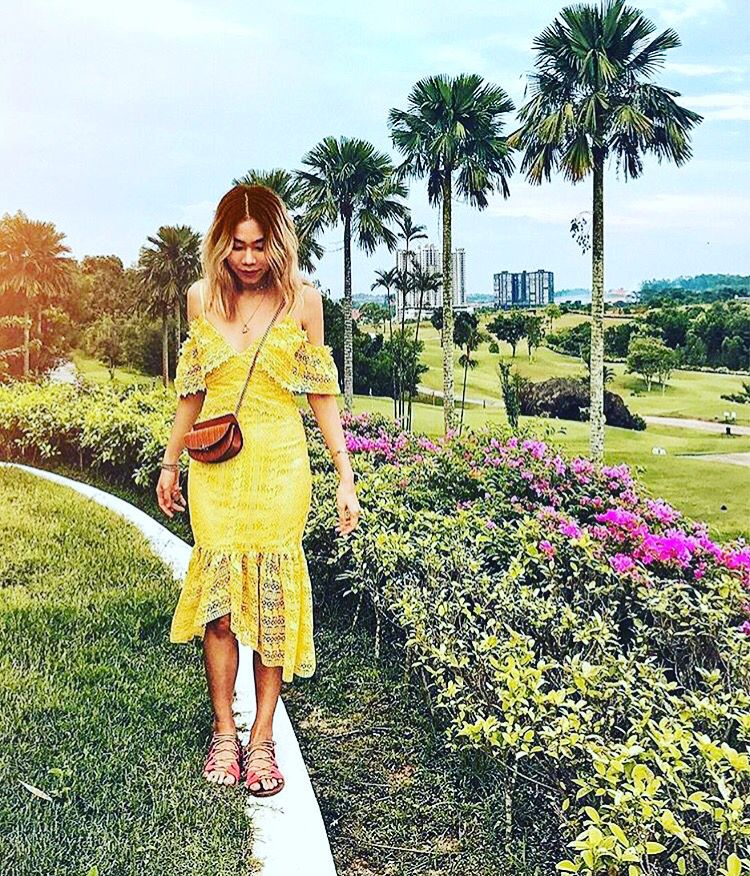 Summer is calling in Limassol town #just #landed #the star eye yellow dress Nellie Lim #reposting #bloggers #wore #it #first #editori