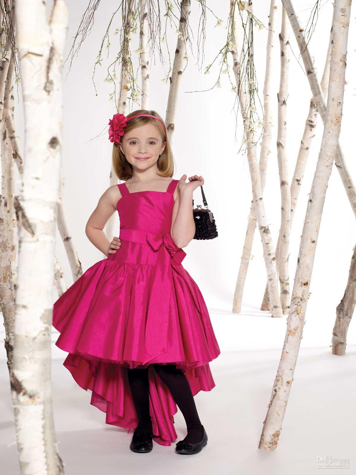 Fashion Taffeta Hi Lo Little Kids Party Dresses Kids Party Dresses ...