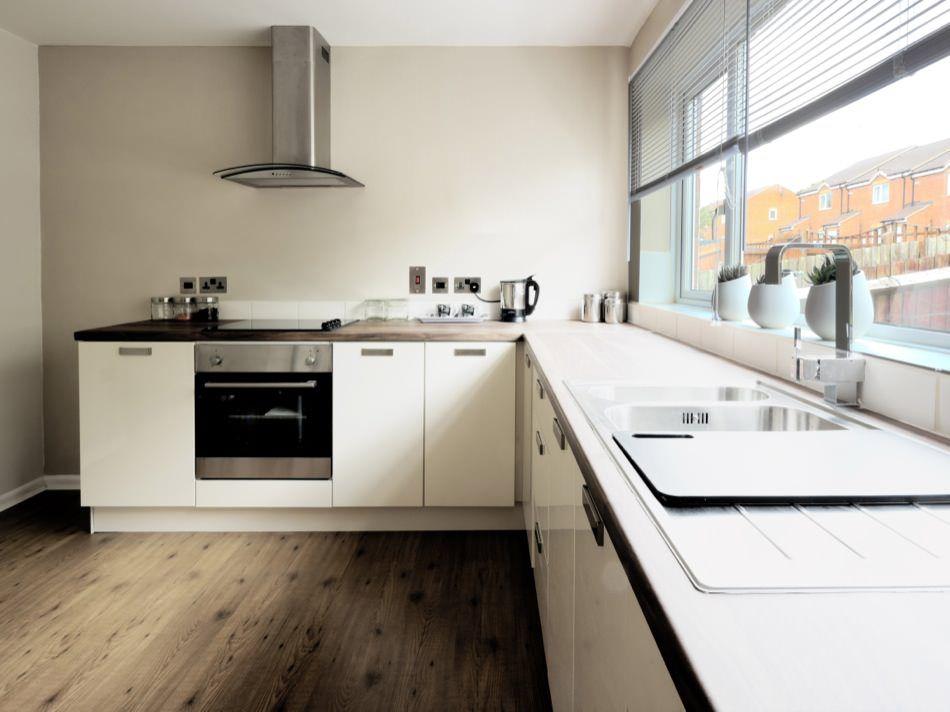 New Pure White Kitchen Cabinets