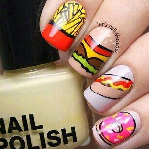 cute food nails nailed