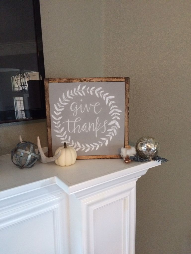 Be Thankful Sign, Give Thanks Sign, Home Decor, Wood Sign, Custom Signs
