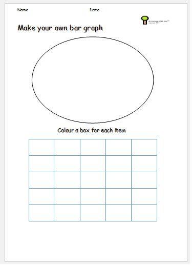 Bar Graph Ideas Free Printable Activity