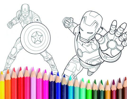 dibujos para colorear los vengadores   Imágenes e Infografías de ...
