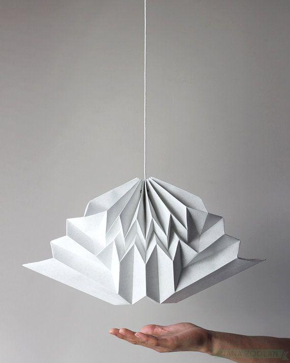 origami cloud mobile pendant