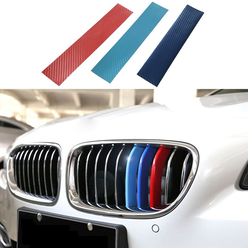 Auto Styling Auto Sticker 3psc/lot///M 3D Carbon Fiber Grill ...