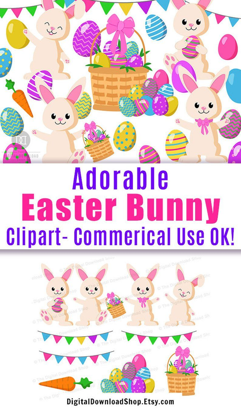 this easter graphics set includes adorable easter bunnies pretty easter eggs and more commercial use clipart easterbunny clipart easter etsy  [ 794 x 1344 Pixel ]