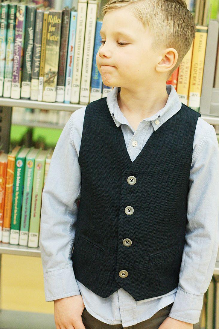 Boys Vest Pattern Custom Decoration