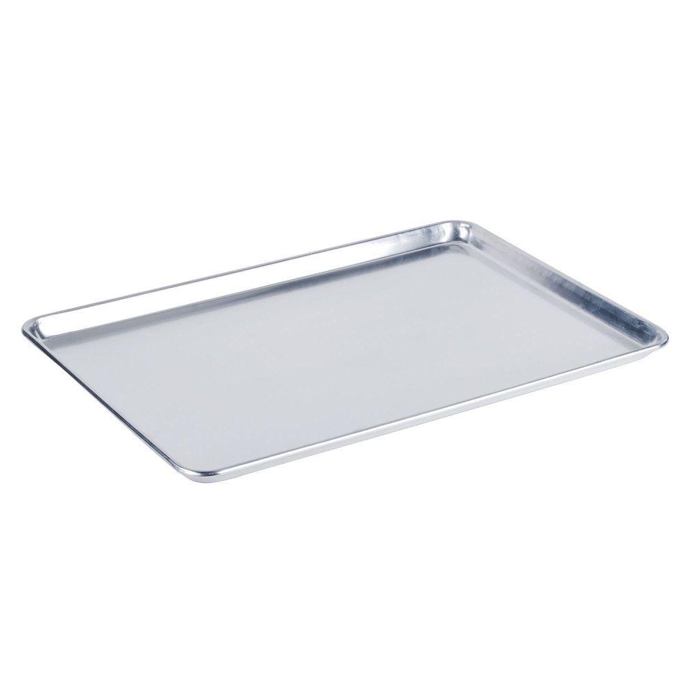Baker S Mark Full Size 19 Gauge 18 X 26 Wire In Rim Aluminum Bun Pan Sheet Pan Sheet Pan Commercial Kitchen Metal Shelves