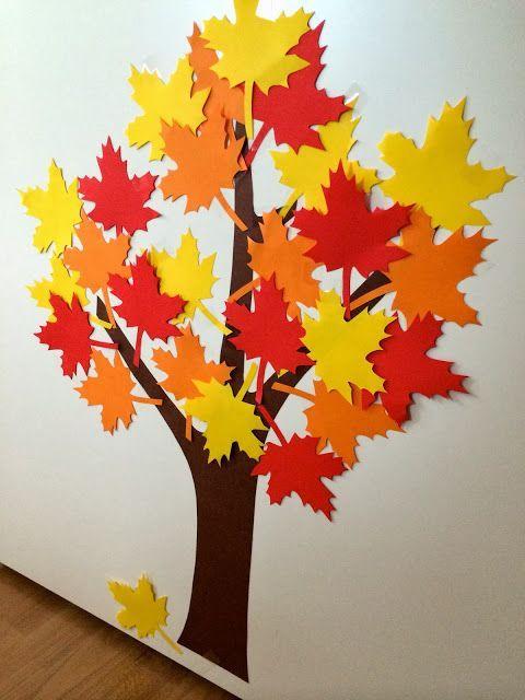 Unser Geburtstagsbaum - Einfach zu basteln und eine schöne Art, die Vo ... #fensterdekoherbst