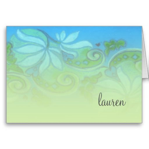 Bat Mitzvah Funky Floral Thank You Note Greeting Card