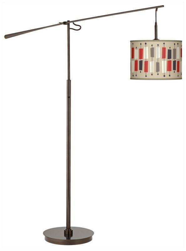 Bronze with Bounce Drum Shade Balance Arm Floor Lamp | Floors ...