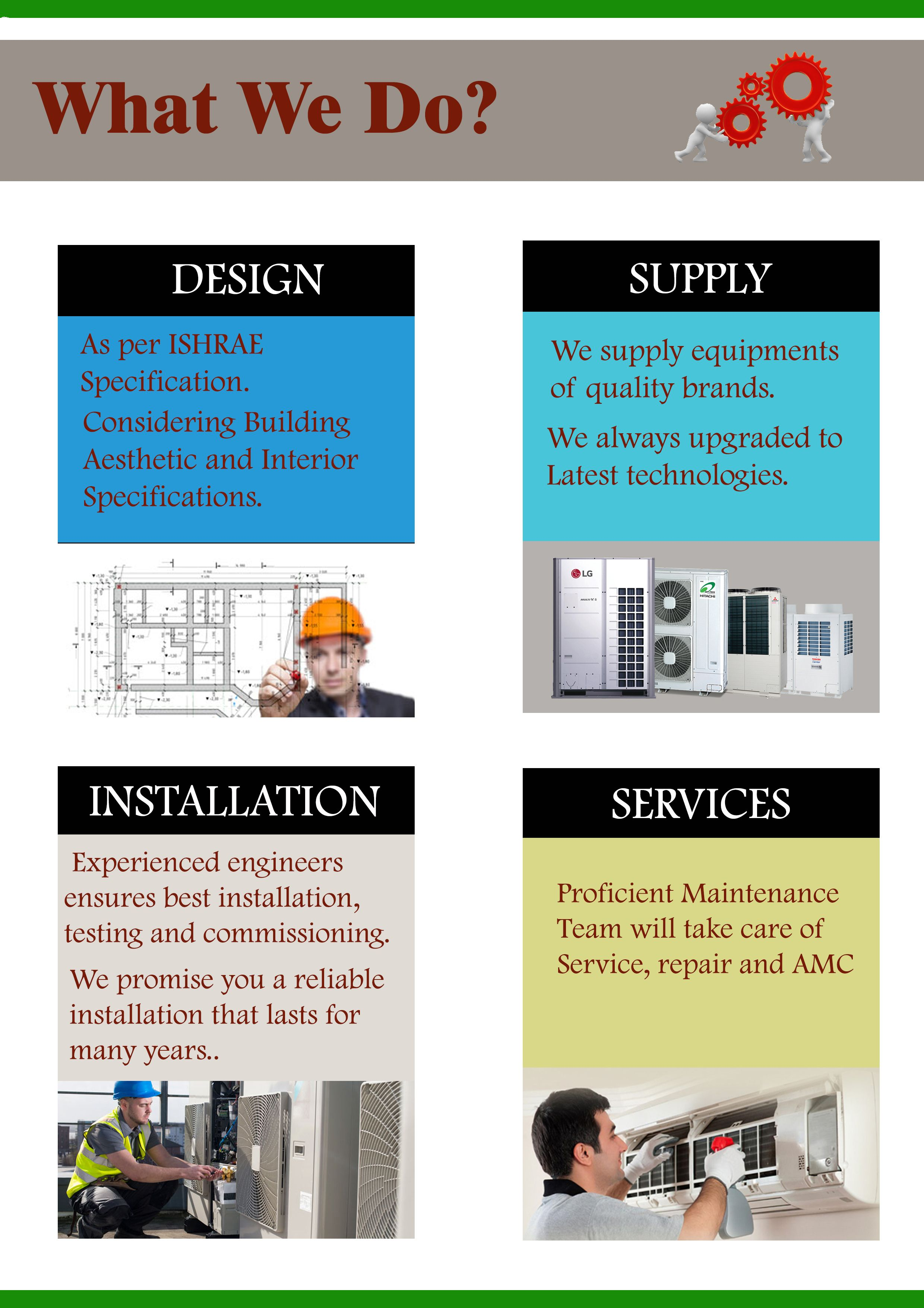 What We Do Design Supply Installation Services Arial