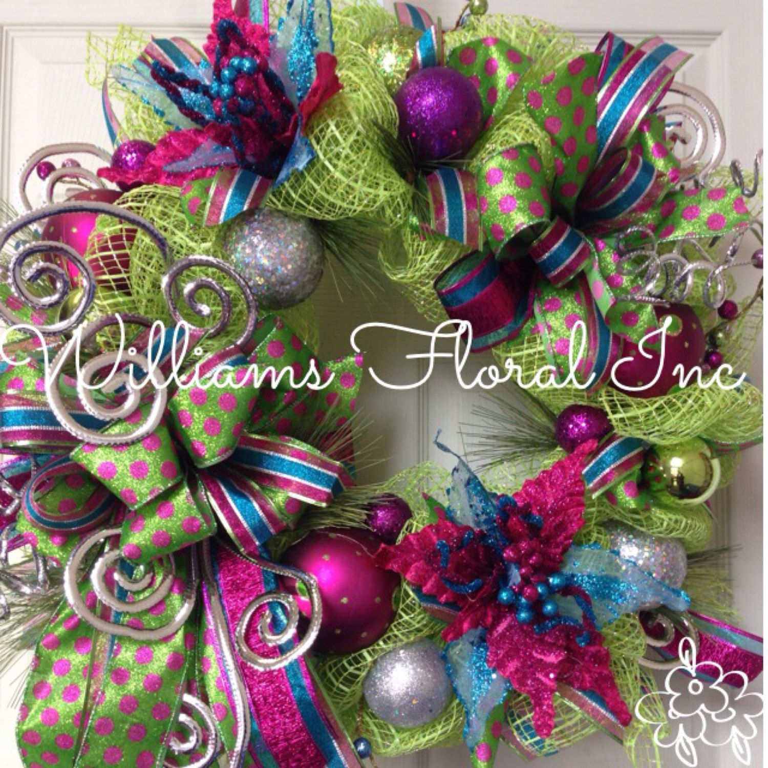 Candyland Pink Blue Christmas Wreath Mesh Wreath Whimsical By Williamsfloral On Etsy With Images Christmas Wreaths Christmas Wreaths Diy Christmas Mesh Wreaths