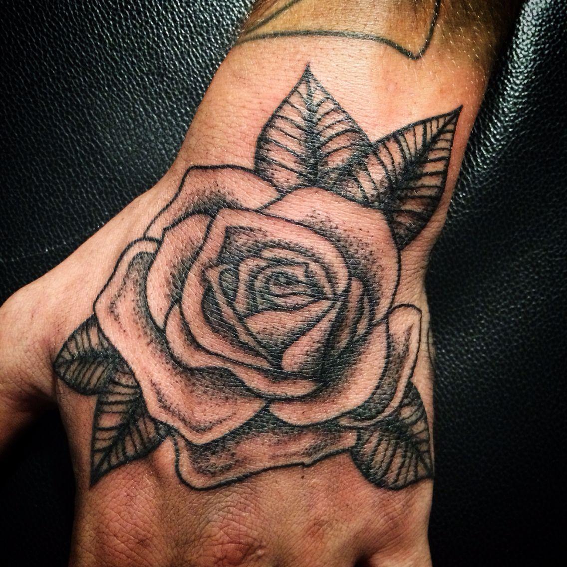Rose Hand Hand tattoos for guys, Rose hand tattoo