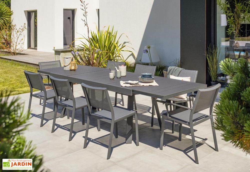 Table De Jardin Extensible En Aluminium Stockholm 200 300 Cm En 2020 Table De Jardin Table Exterieur Et Table Extensible