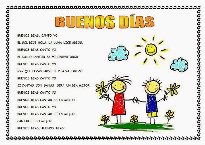 10 Ideas De Canción De Buenos Días Canción De Buenos Días Canciones Infantiles Letras De Canciones Infantiles