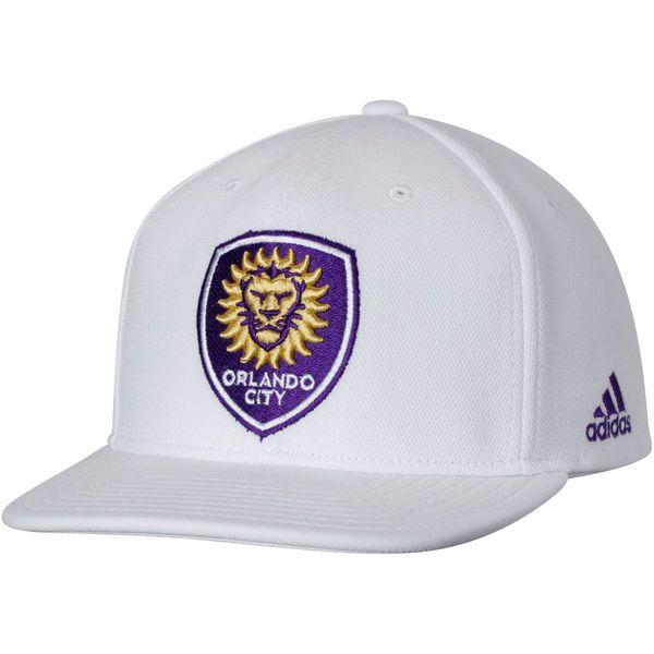 818cd9f57fd1e7 Men's Orlando City SC adidas White Z.N.E. Flat Brim Snapback Adjustable Hat,  Your Price: $27.99