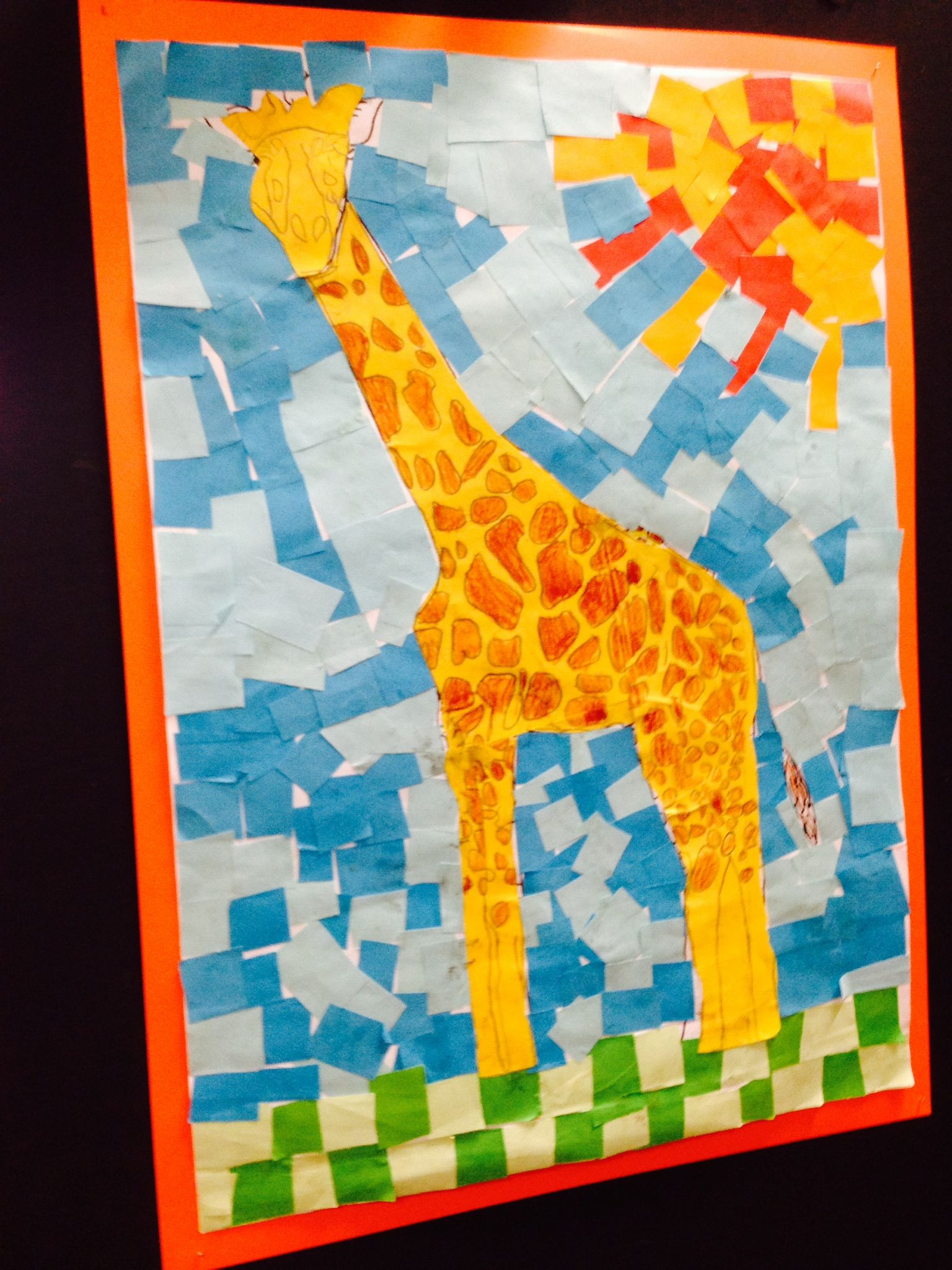 Giraffe collage kids | Collage | Pinterest | Giraffe, Collage and ...