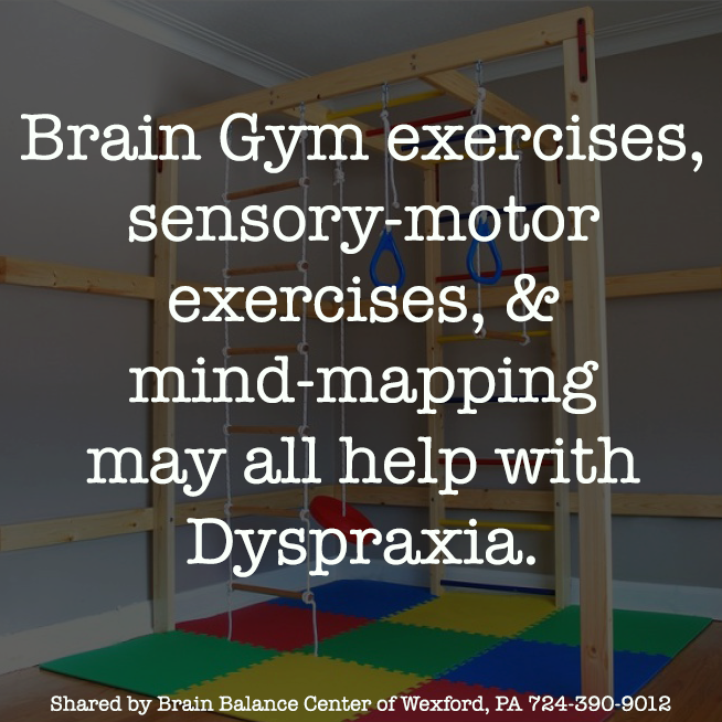 Brain Gym exercises, sensory-motor exercises, and mind-mapping may all help with #Dyspraxia.