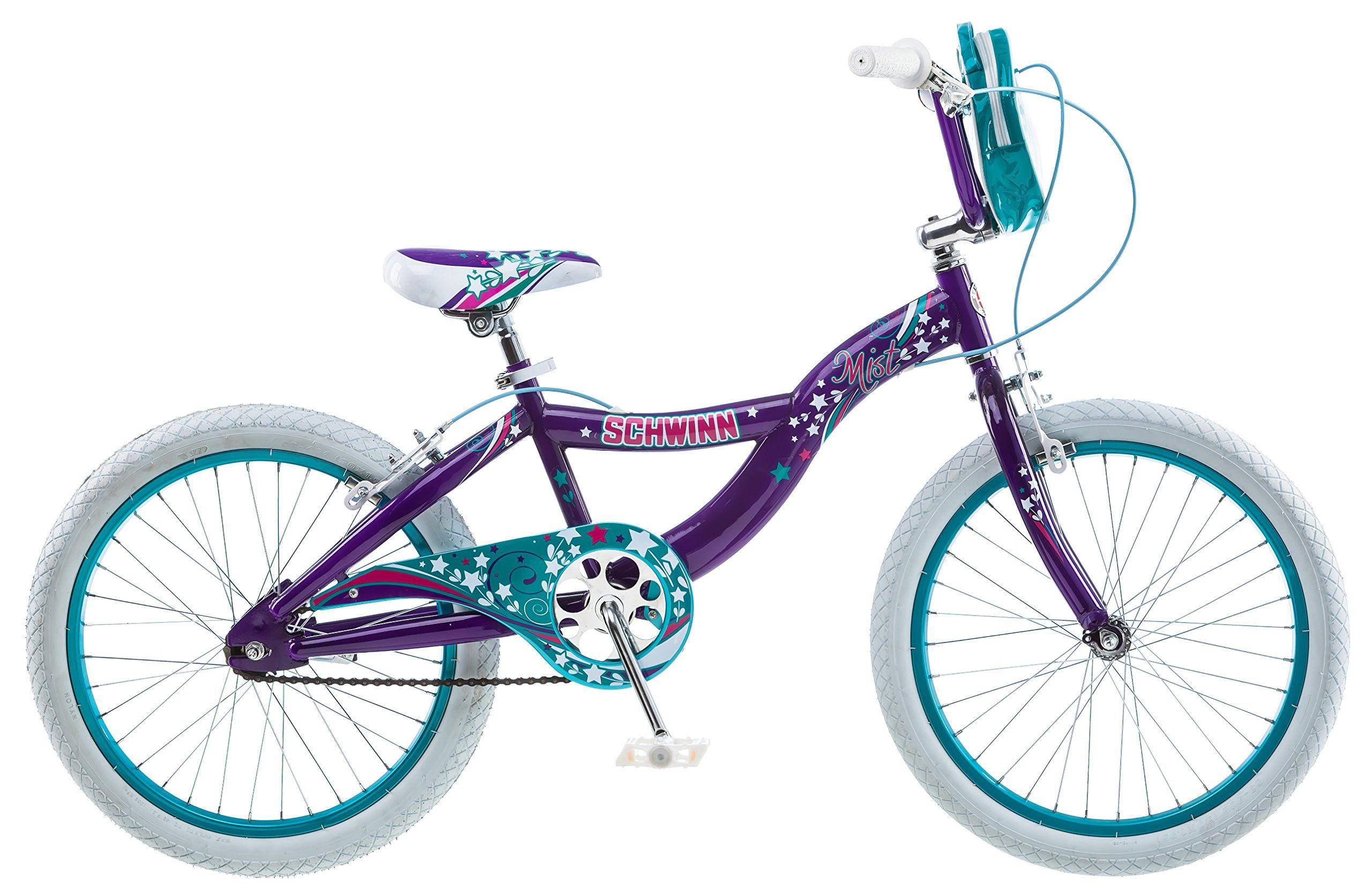 2f8f0d46e74 Amazon.com : Schwinn Girl's Mist Bicycle, 20-Inch, Purple : Sports &  Outdoors