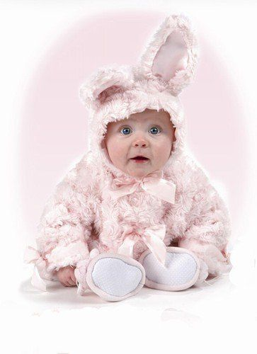 Pink Cottontail Bunny Coat - 6 to 12 Month by Bearington. $39.99. Adorable pink bunny baby coat from Bearington Baby is a wonderfully soft pastel hooded jacket complete with bunny ears!  This darling bunny coat features unbelievably soft swirly fabric and is lined in beautiful satin with a snap front.  Coat Features:      * Bunny Ears On Hood     * Ultra Soft Rosette Faux Fur Fabric     * Snaps Down the Front     * Detailed with Grosgrain Ribbons  Size 6-12 Months