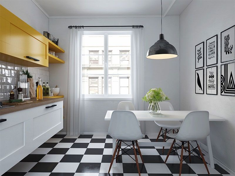 Déco scandinave  50 idées pour décorer votre cuisine au style - joint pour plan de travail cuisine