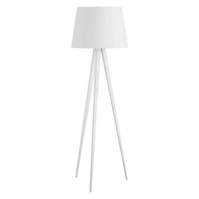Yves White Metal Tripod Floor Lamp Base Buy Now At