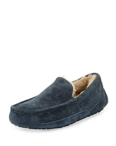 82668b12aa6 UGG ASCOT SUEDE SLIPPER, NAVY. #ugg #shoes #flats | Ugg Men | Mens ...