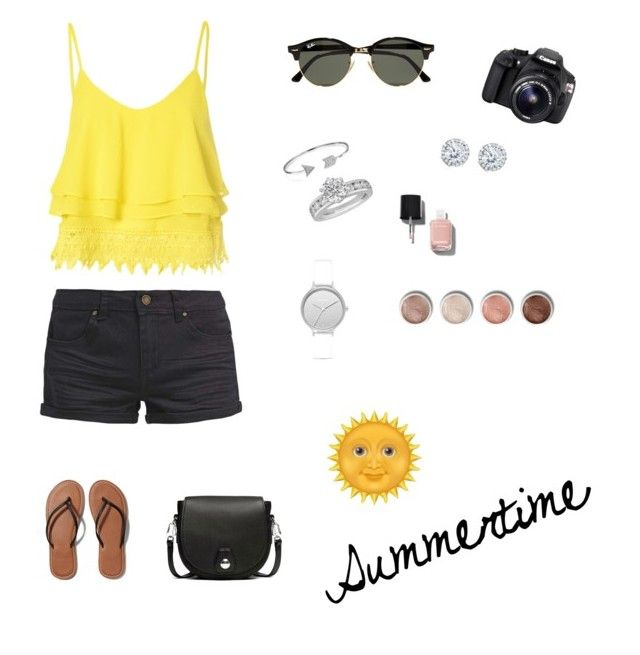 """""""Sunny Days"""" by erinfranklanddd ❤ liked on Polyvore featuring TWINTIP, Glamorous, Abercrombie & Fitch, rag & bone, Ray-Ban, Eos, Bling Jewelry, Skagen, Tiffany & Co. and Kobelli"""