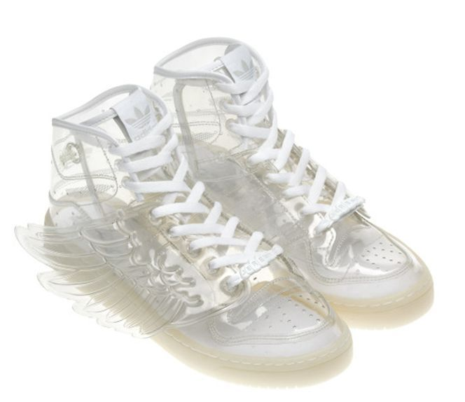 ADIDAS JEREMY SCOTT WINGS TRANSPARENT CLEAR 7 9 40 RARE