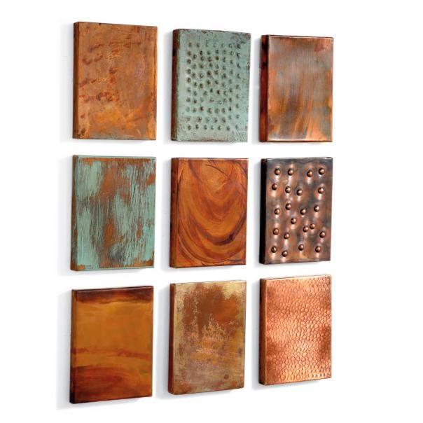 Set of Nine Outdoor Copper Wall Tiles | Copper | Pinterest | Copper ...