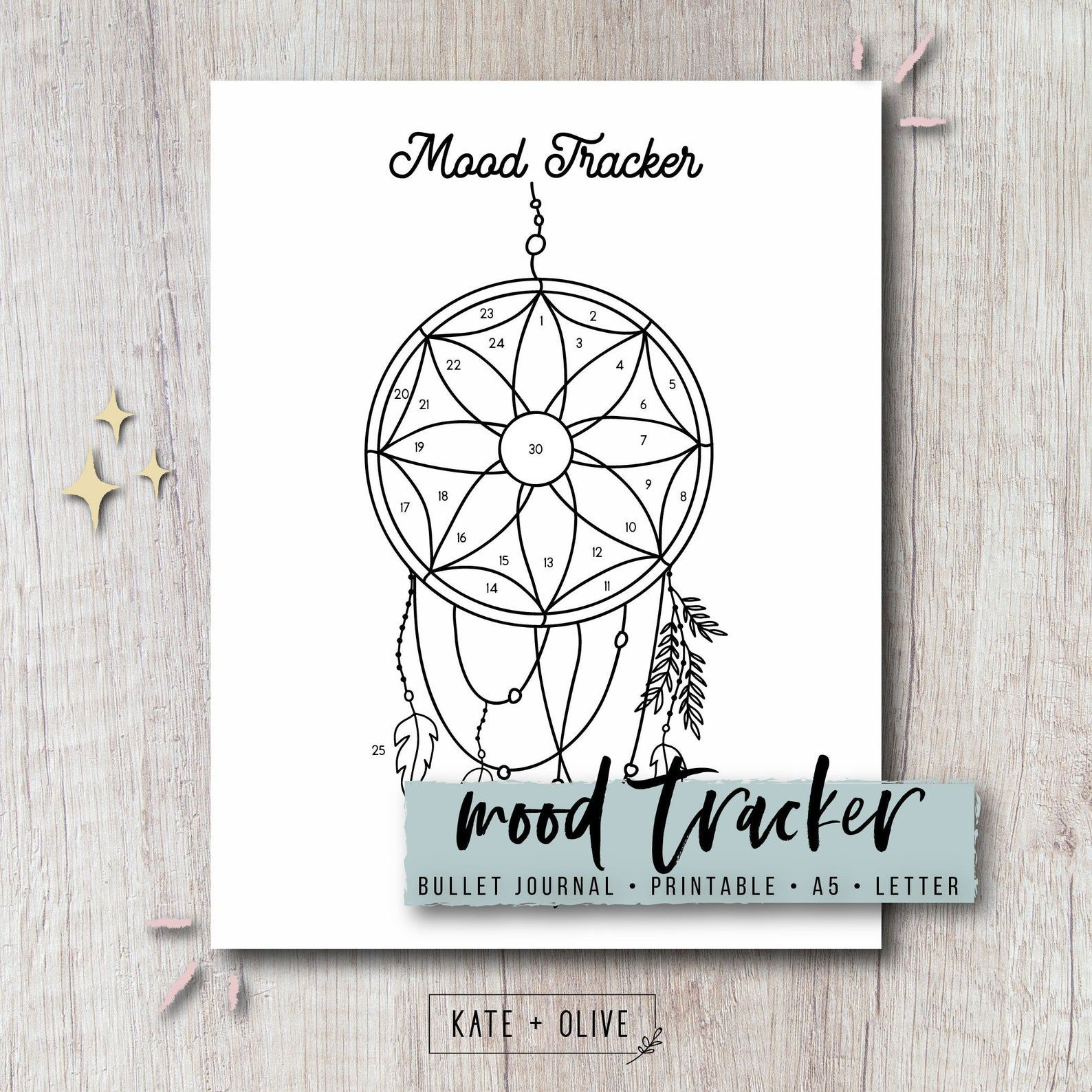 Mood Tracker Printable Insert