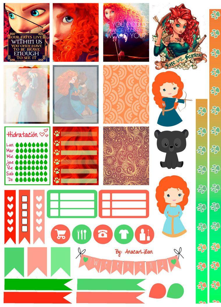 Merida/Brave - Printable Stickers by AnacarLilian.deviantart.com on ...