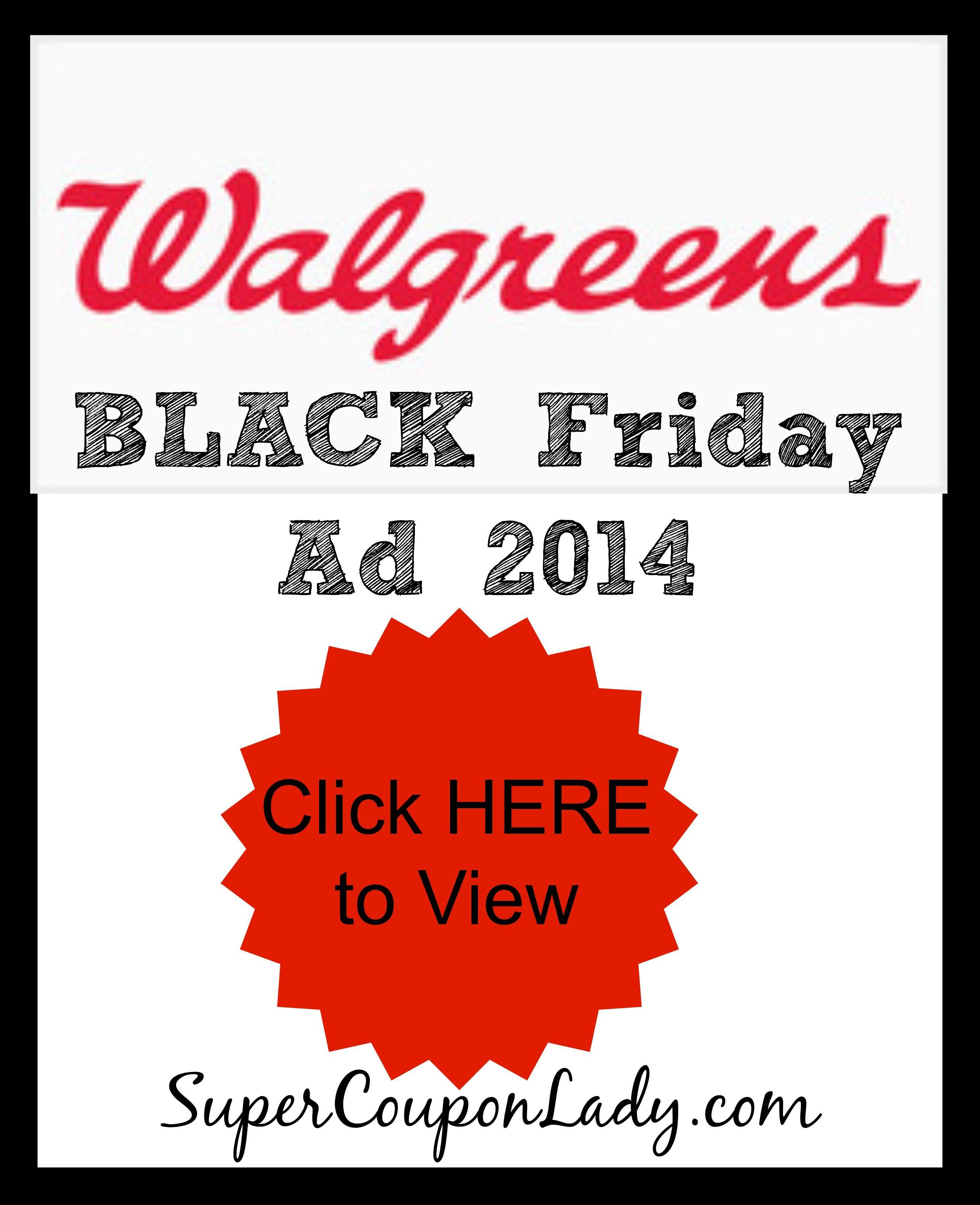 Walgreens Black Friday Ad 2014   Black friday and Coupon lady