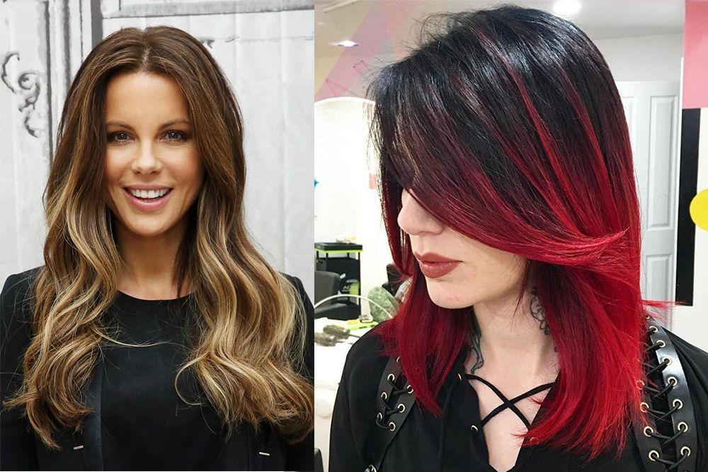 Haartrends 2018 Zweifarbiges Haar Frisuren