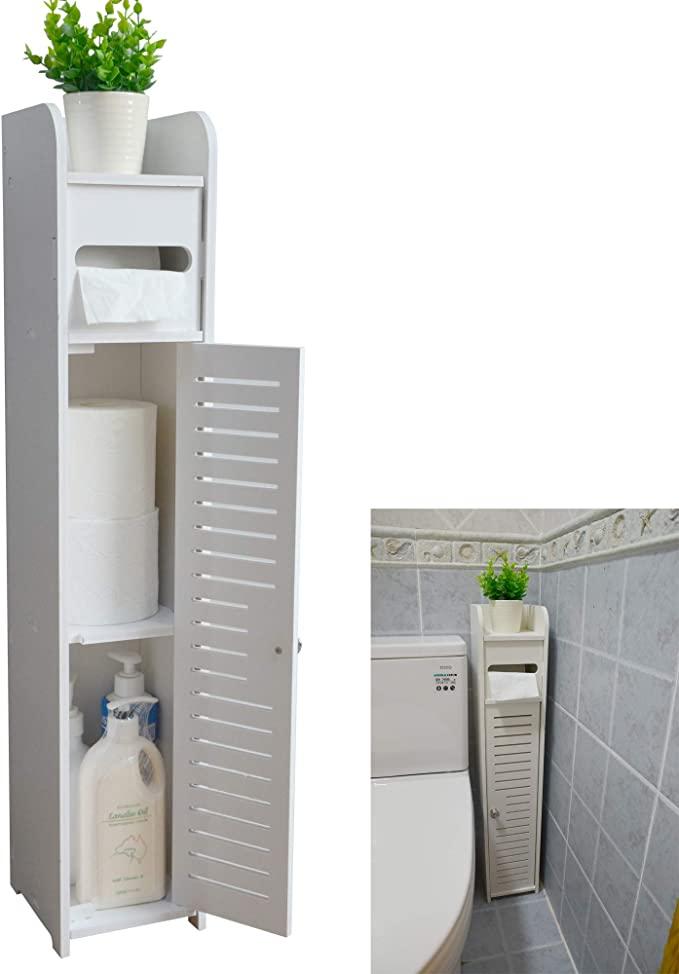 Aojezor Small Bathroom Storage Corner Floor Cabinet With Doors And Sh Small Bathroom Storage Cabinet Small Bathroom Storage Bathroom Floor Cabinets