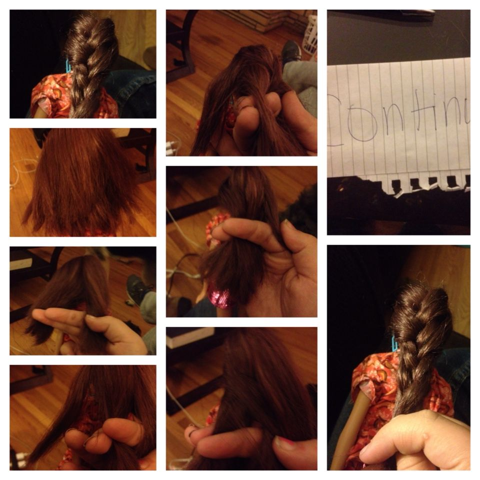 Easy quick way to do a fishtail braid first you need