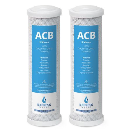2 Pack Activated Carbon Block Acb Filter Replacement 5 Micron 10 Inch Filter Under Sink And Reverse Osmosis System Express Water Black Water Filter Cartridge Reverse Osmosis System Under Sink