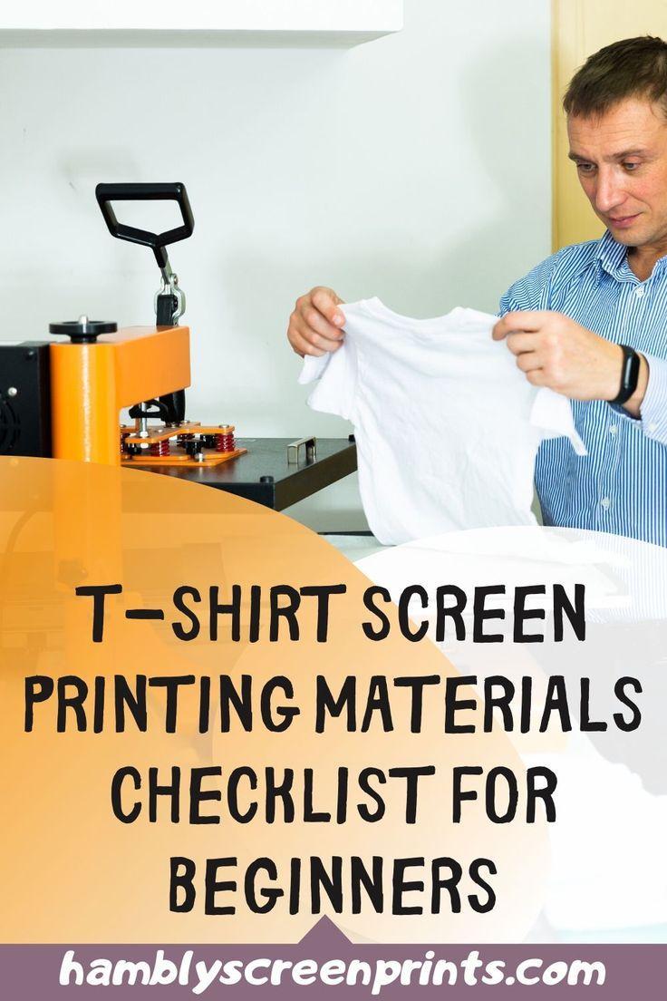 Tshirt Screen Printing Materials Checklist For Beginners
