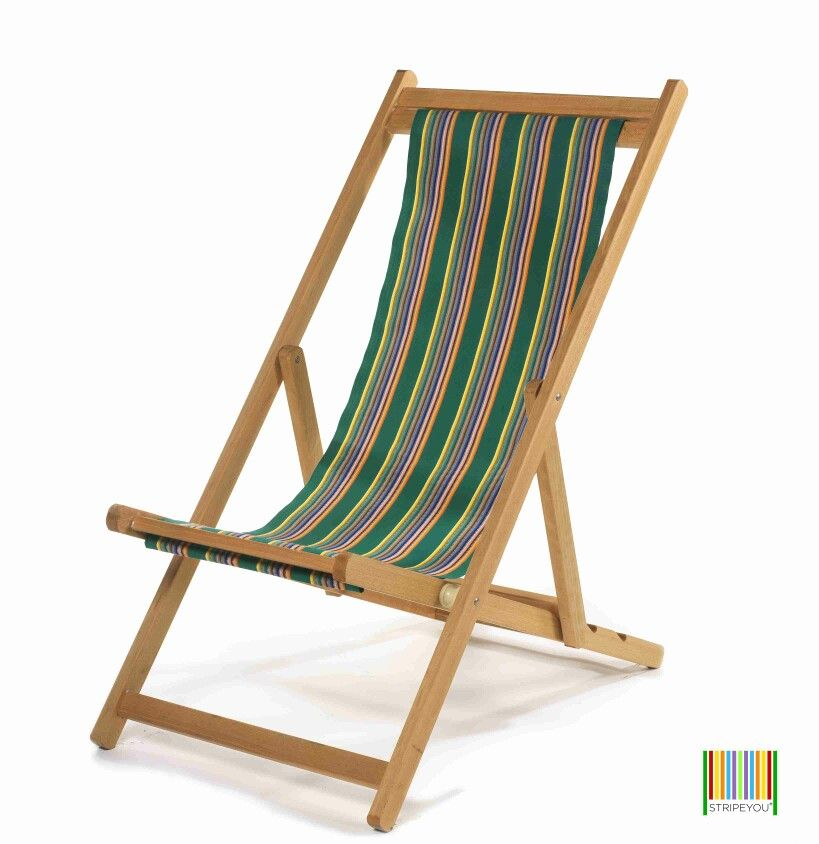 Stripeyou Professional Wood Deckchair