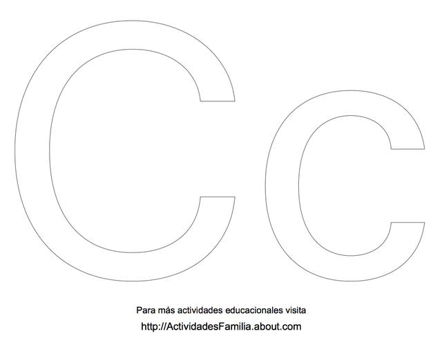 Abecedario para colorear: Letra C para colorear   teach   Pinterest