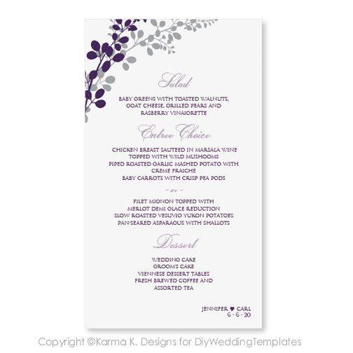 Hochzeit Menü Karte Vorlage Download von DiyWeddingTemplates, $800 - invitation letter format for judges